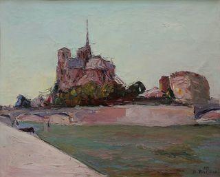 Widok na Ile de la Cité w Paryżu (1929)
