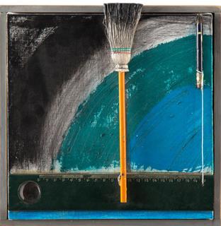 """Bez tytułu (""""Malarstwo zostawia ślady wokół osi""""), 1975-2015"""