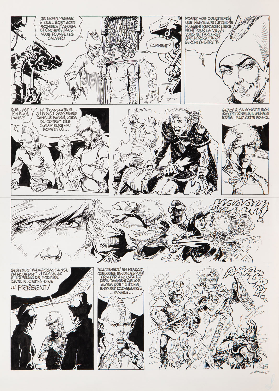 """Tajemnica czasu"" (Secret du temps) - plansza komiksowa, 1999"