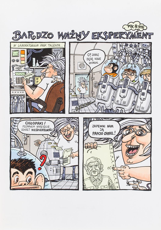 """""""Tytus - bardzo ważny eksperyment"""" - plansza komiksowa, 2007"""
