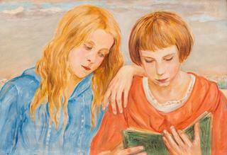 Czytające dziewczynki, 1923