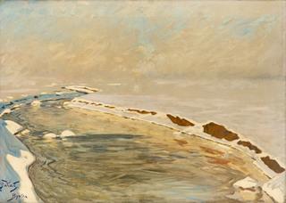 Zimowy pejzaż z Bystrej