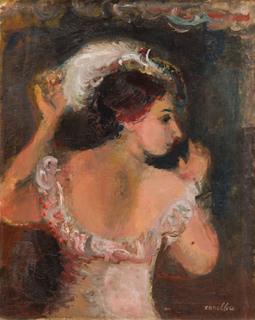 Portret kobiety w sukni i kapeluszu, 1930