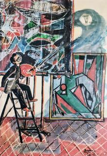 Autoportret w pracowni, 1956