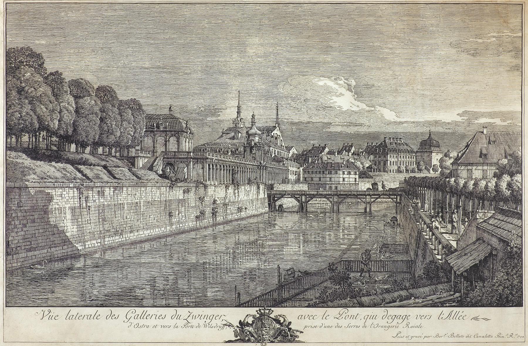 WIDOK GALERII ZWINGER W DREŹNIE, 1758