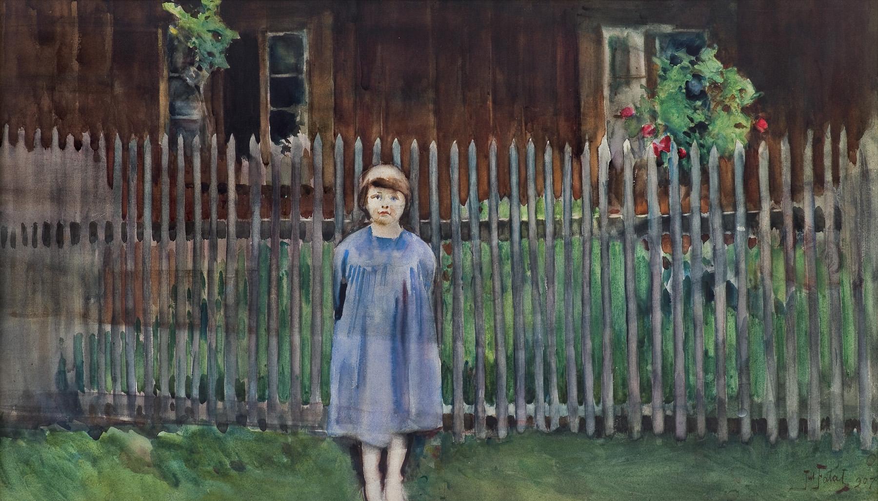 WIDOK Z BYSTREJ. PORTRET CÓRKI, 1907
