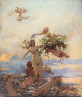 Narodziny Wenus (Nimfy wodne), lata 1880-te