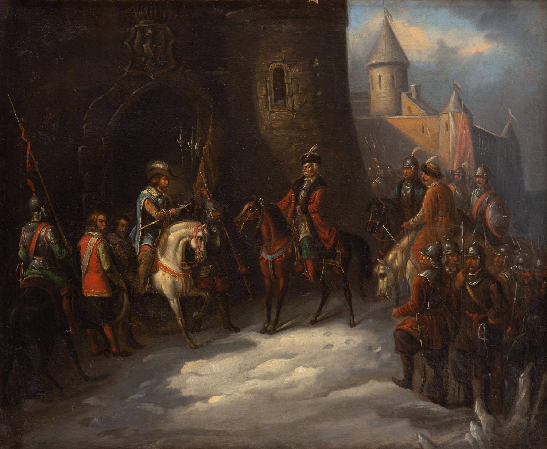 Scena historyczna z okresu wojny polsko-szwedzkiej 1600-1611