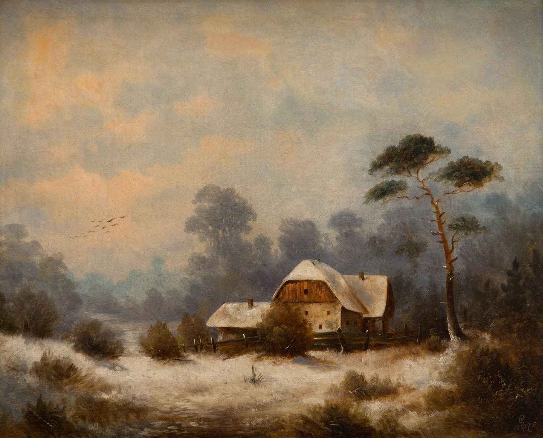 Pejzaż zimowy, 1875