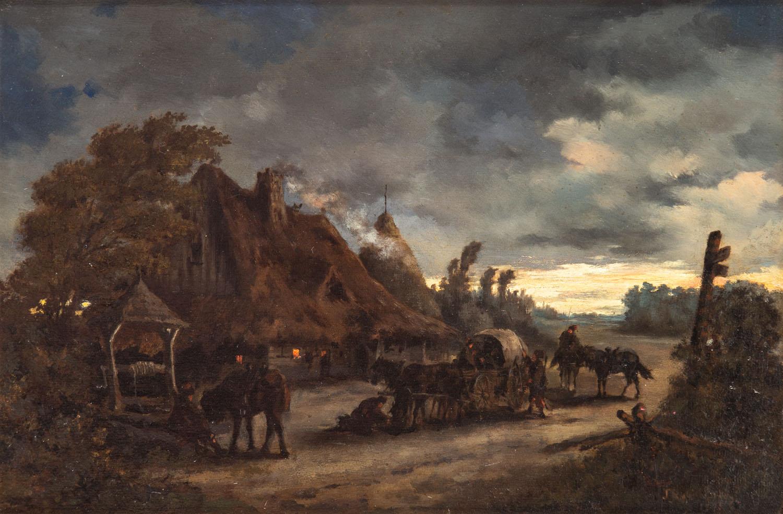 O zmierzchu przed zajazdem, 1875