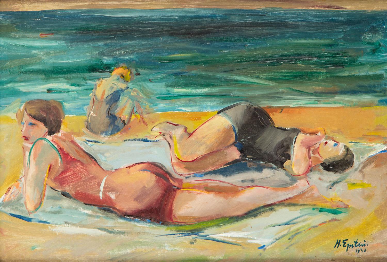Kobiety na plaży, 1930