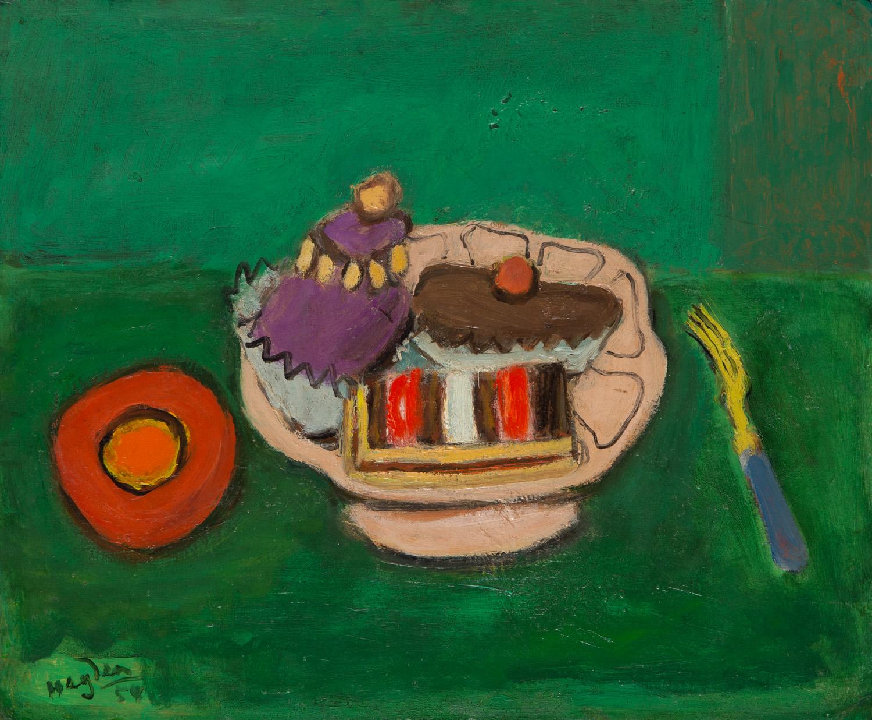 Martwa natura z ciastkami, 1954