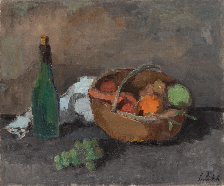 Martwa natura z koszem owoców i butelką, 1927