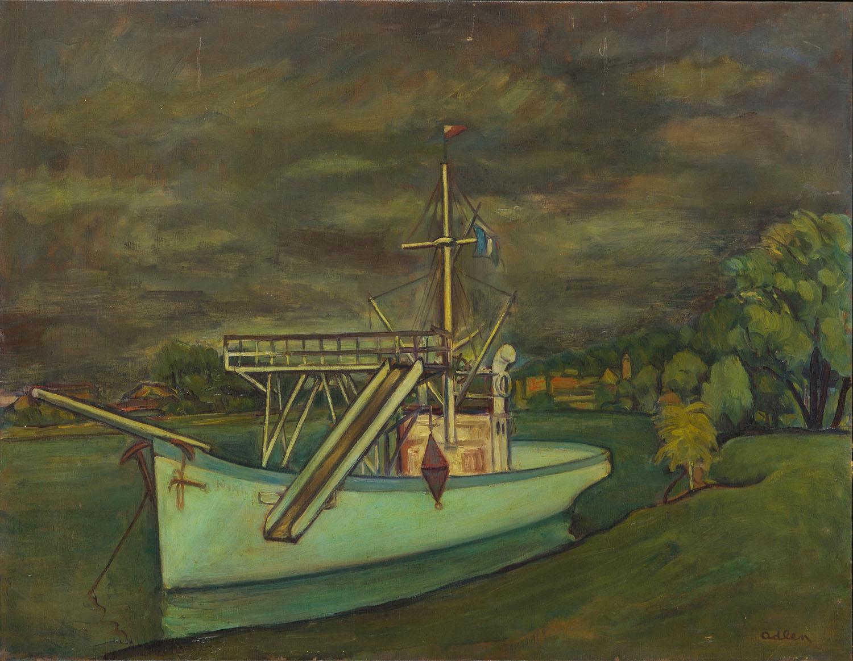 Krajobraz z łodzią