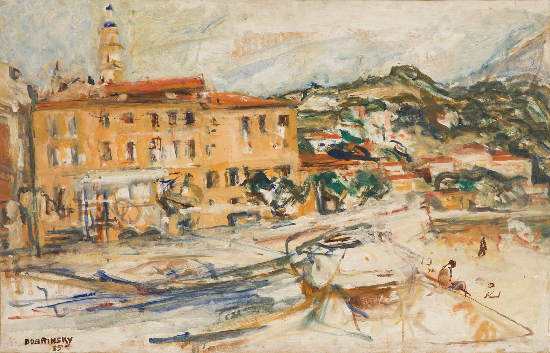 Port w Menton, 1955
