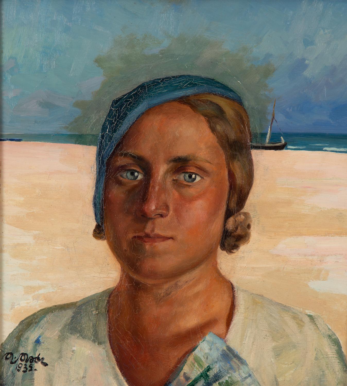 Portret kobiety na tle wybrzeża, 1935
