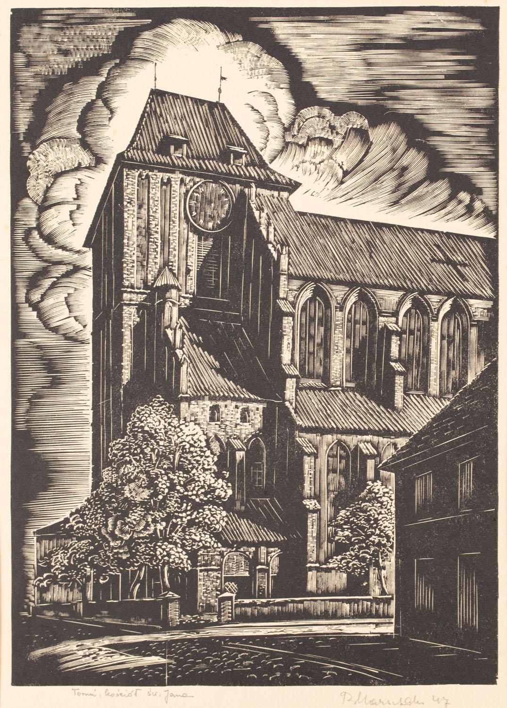 """""""Toruń, kościół św. Jana"""", 1947"""