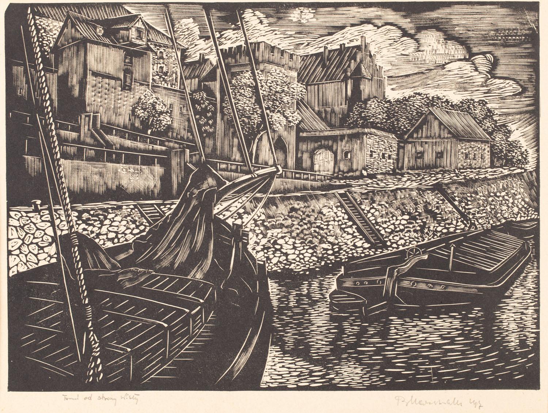 """""""Toruń od strony Wisły"""", 1947"""