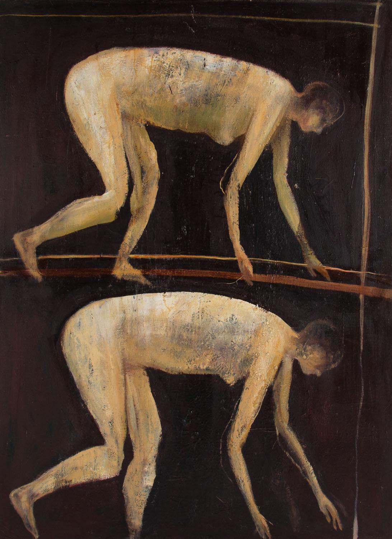 Dwie kobiety na brązowym tle, 1994