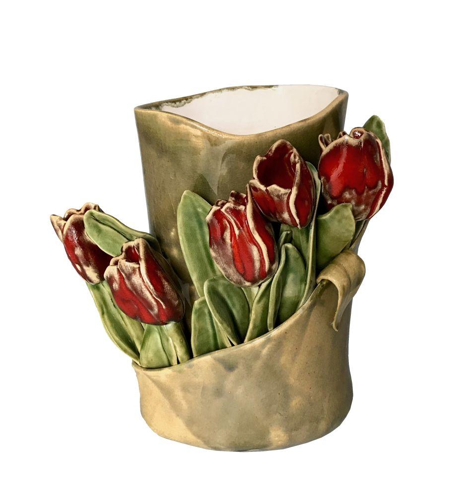 Wazon - tulipany