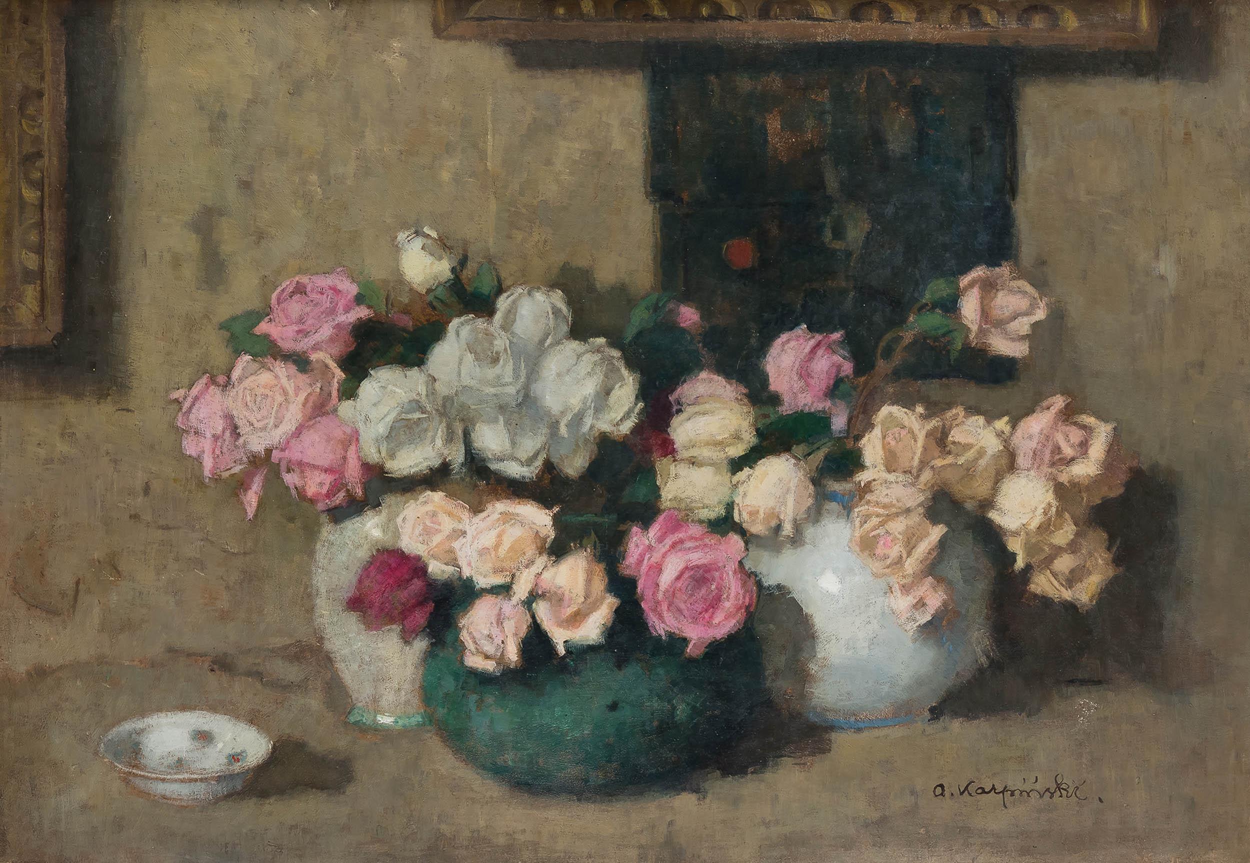 Trzy bukiety kwiatów, ok. 1914 r.