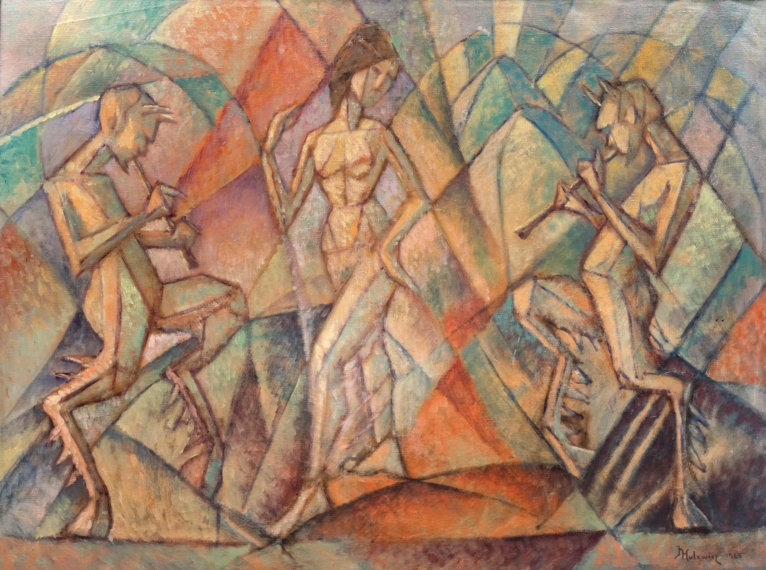 Tancerka i grające fauny, 1925 r.
