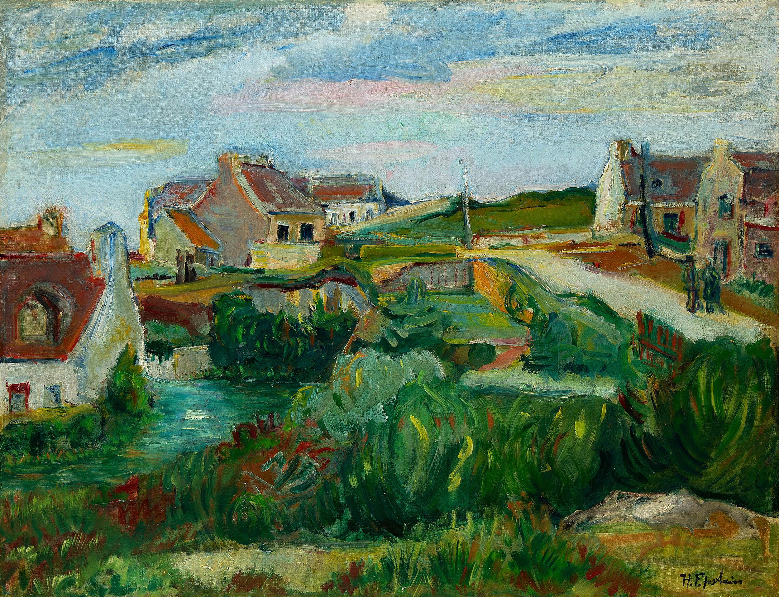 Wioska bretońska nad morzem