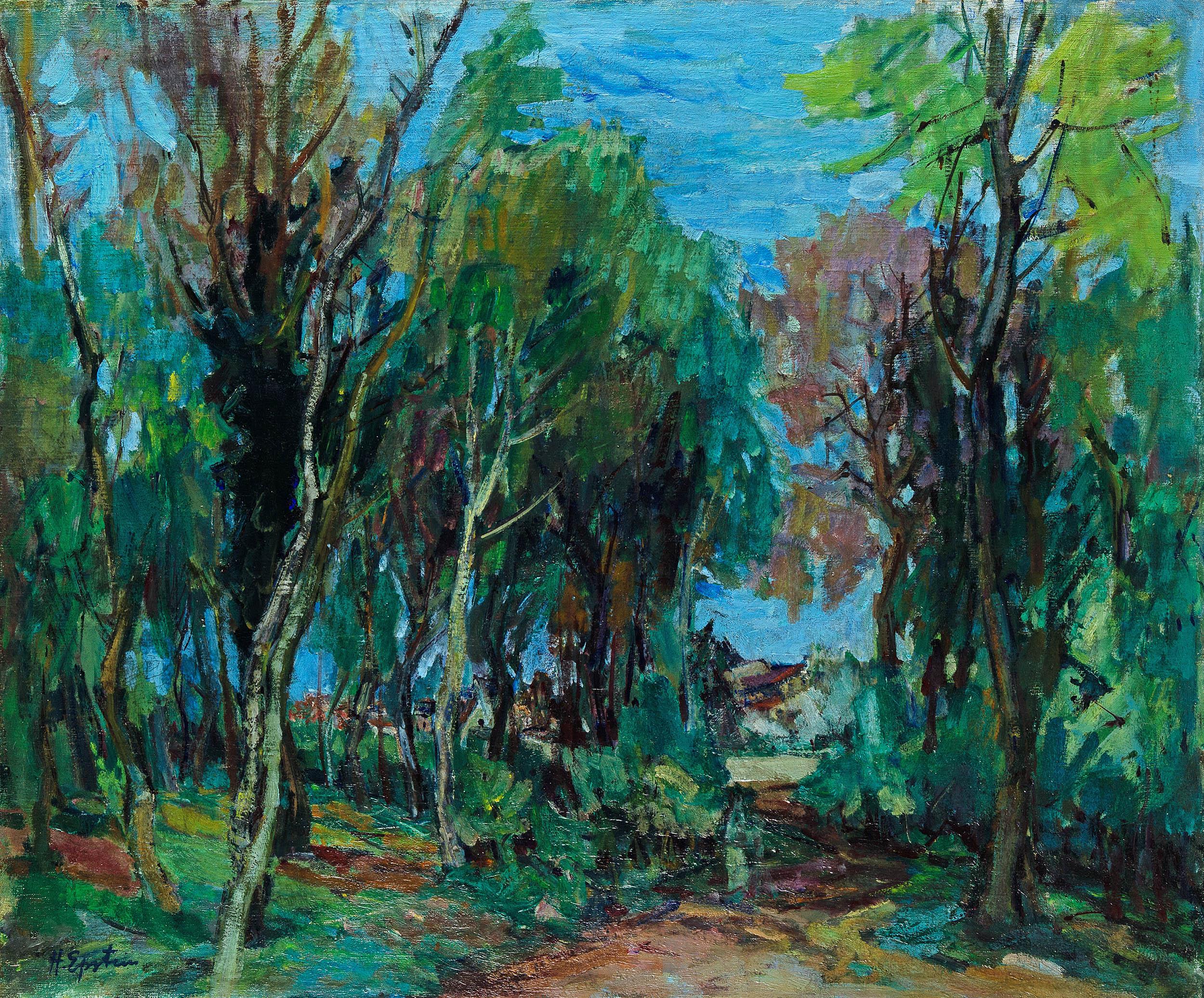 Wieś  w pobliżu lasu