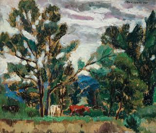 Pejzaż z krowami, 1930 r.