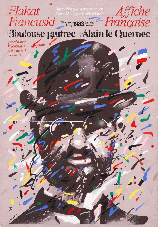 """""""Plakat francuski"""" - projekt plakatu, 1982"""