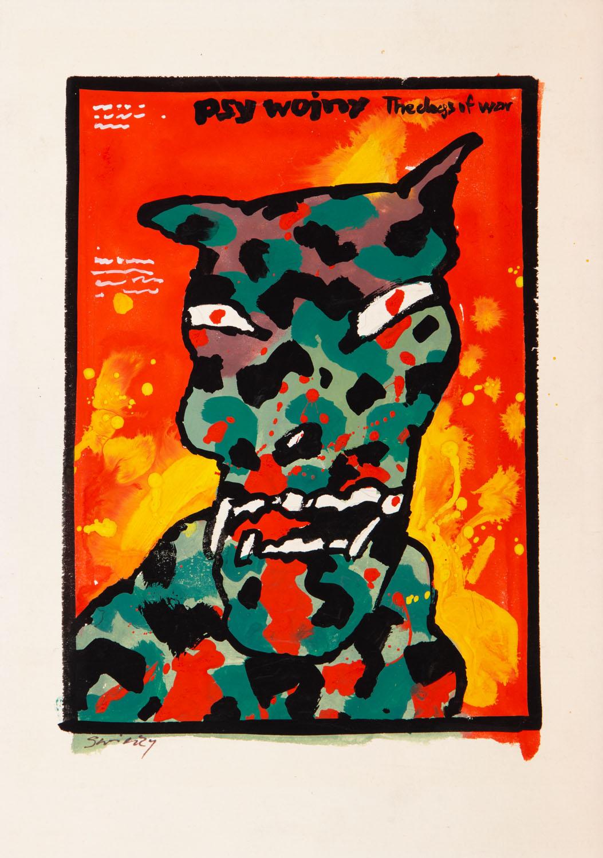 """Psy wojny"" - projekt plakatu"