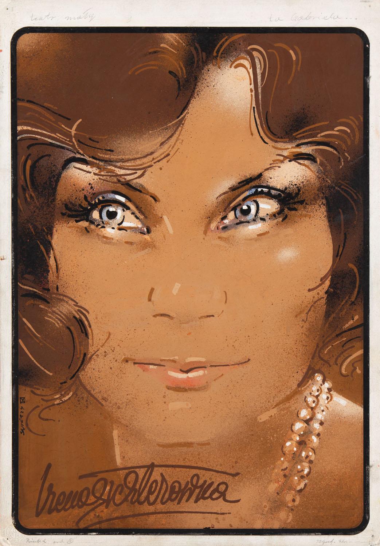 """""""Ta Gabriela"""" - projekt plakatu z Ireną Eichlerówną, 1976"""