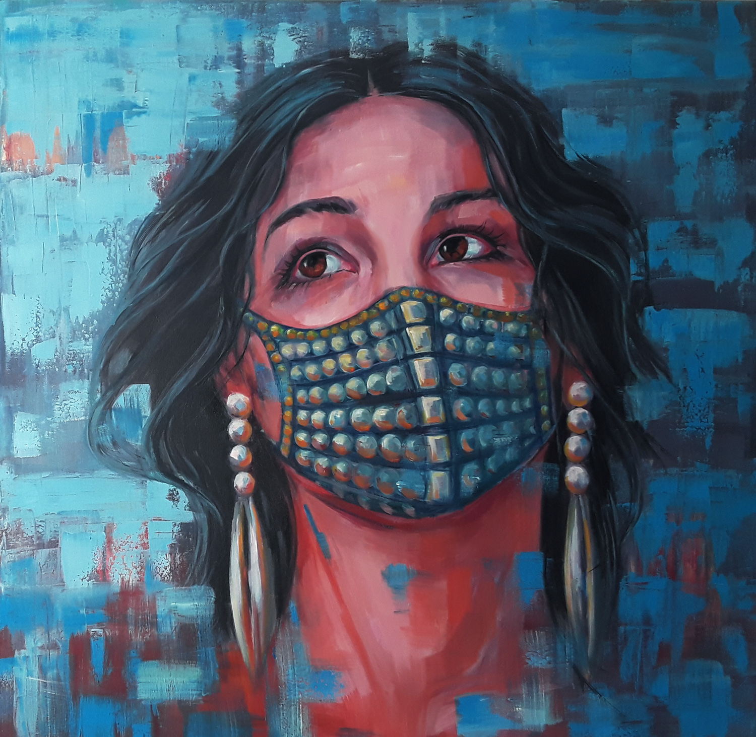 Lady in the mask, 2020