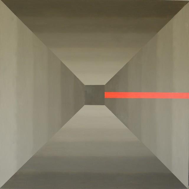 """Bez nazwy z cyklu """"Wariacje geometryczne"""", 2017"""