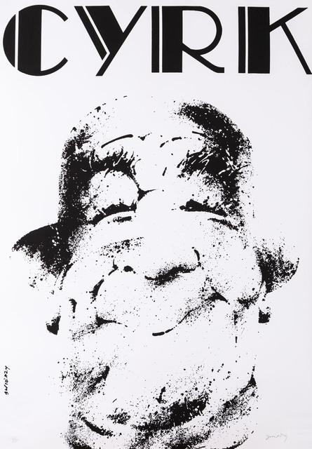 Klaun w kapeluszu - sitodruk monochromatyczny, 1970/1998