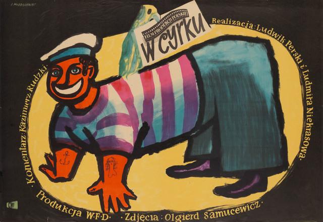 """Plakat do filmu """"W cyrku"""", 1954"""