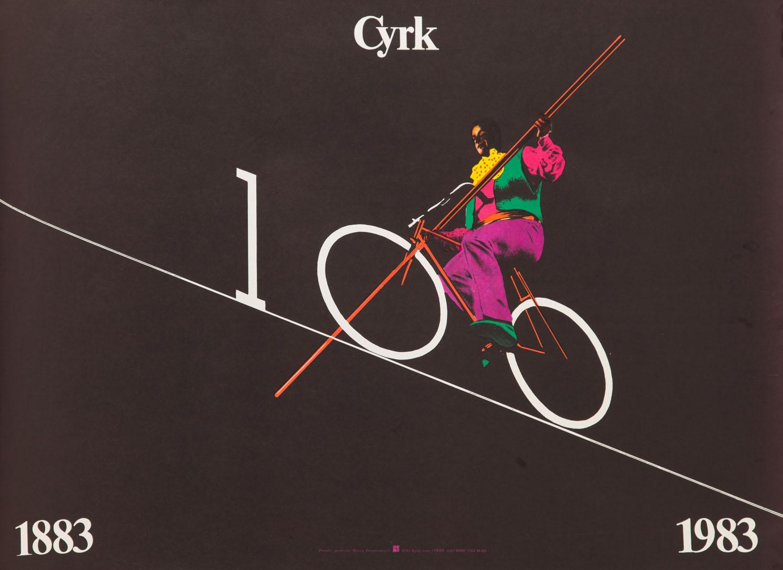 Jublileuszowy plakat artystów cyrku 1883 - 1983, 1983