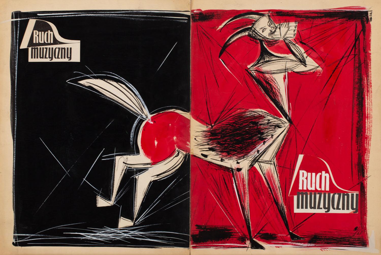 """Projekt okładki """"Ruch Muzyczny"""", 1968"""
