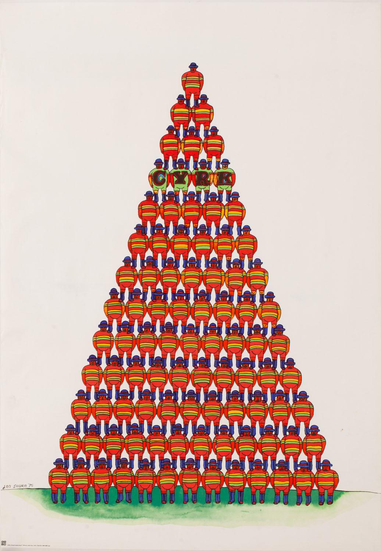 Piramida akrobatów, 1975