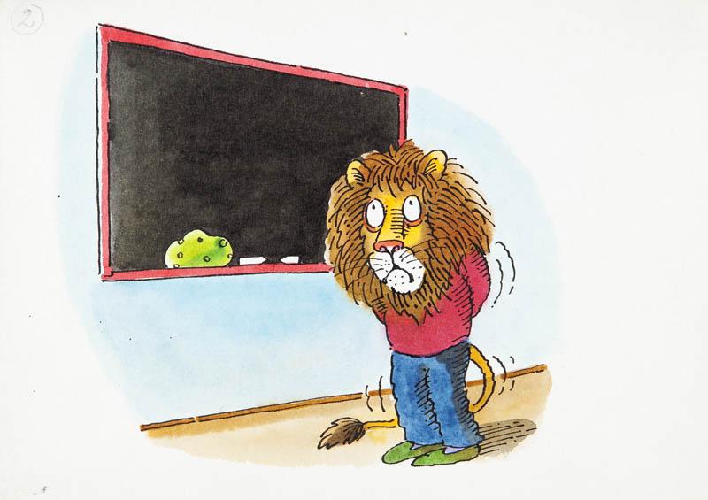 Lew przy tablicy