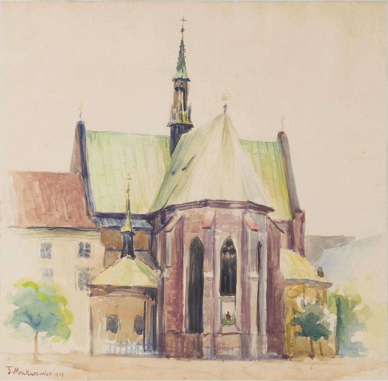 Kościół od strony absydy, 1939