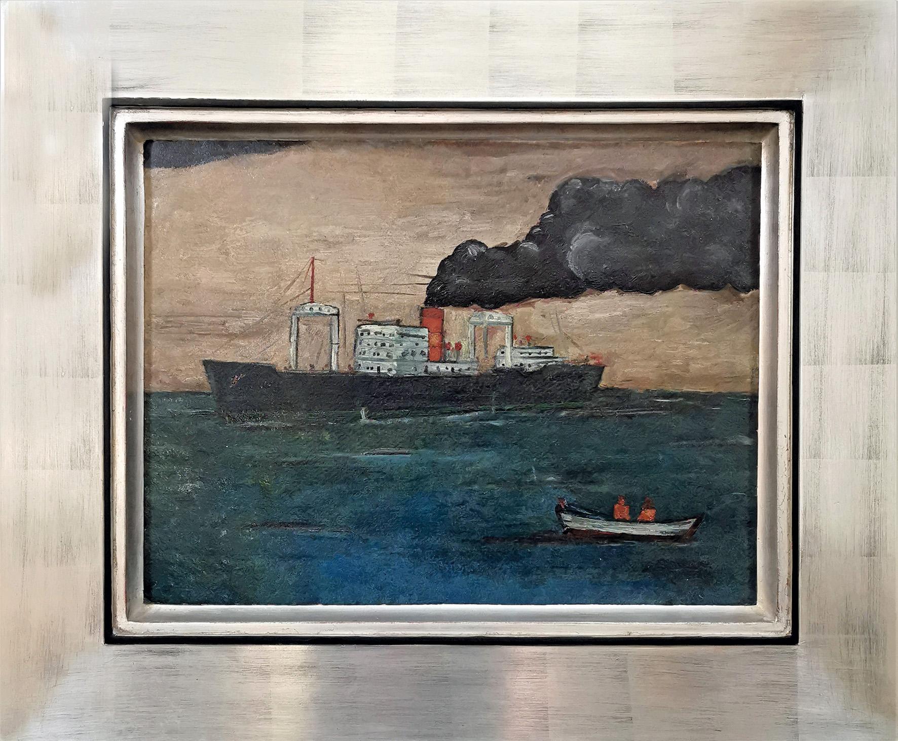 Statek - Pejzaż morski, 1947