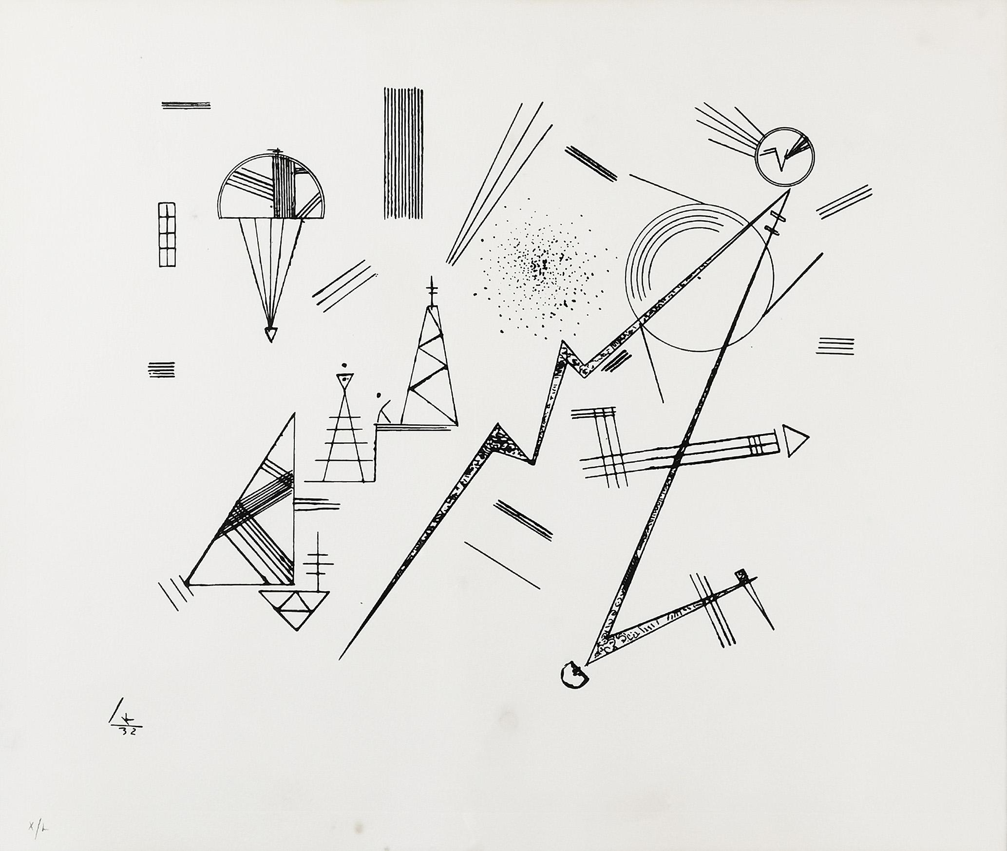 Kompozycja abstrakcyjna II, 1932, odbitka 1973