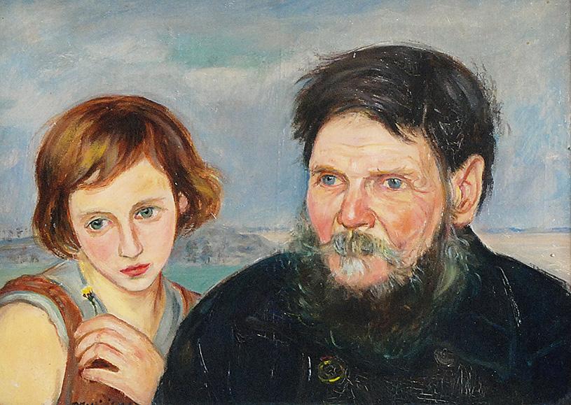 Starzec i dziewczyna