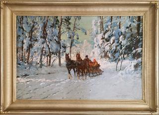 Saniami przez las, 1920