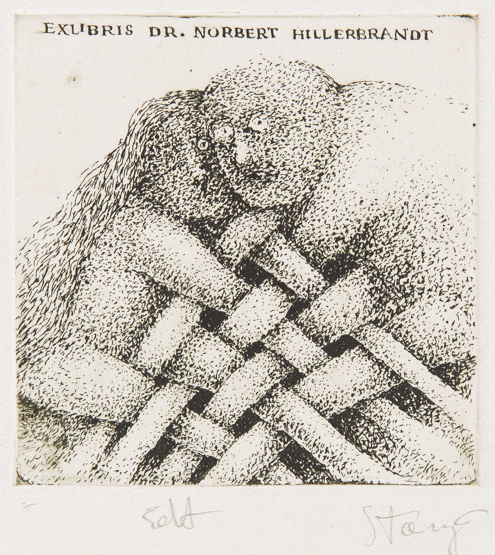 Exlibris Dr Norberta Hillerbrandta, 1980