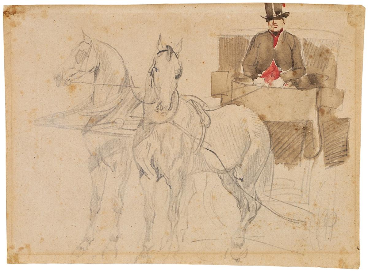 Stangret powożący, 1835-1837