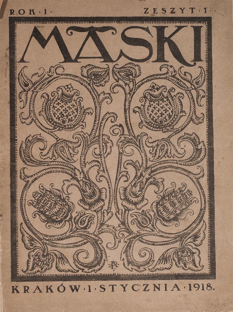 Maski, numer 1, rok I, styczeń 1918 r.