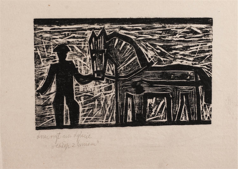 Chłop z koniem, ok. 1955