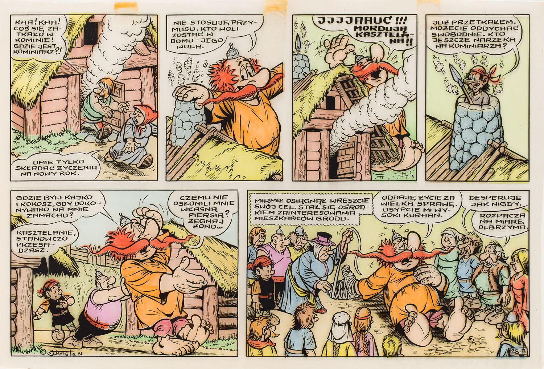 """""""Kajko i Kokosz"""", Festiwal czarownic - plansza komiksowa nr 28 B, 1981"""